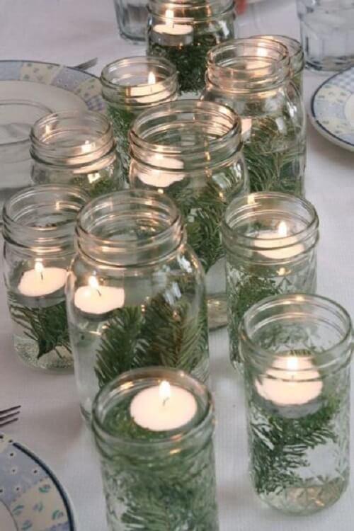 stol_bor_blagdanska_dekoracija_božić_diy_grane_svijeće