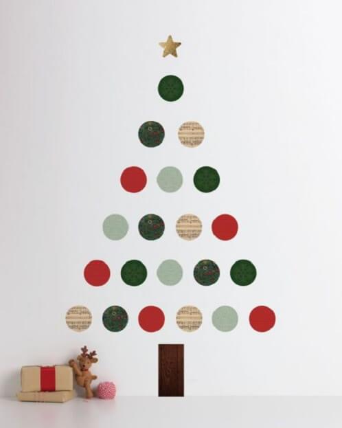 zid_blagdanska_dekoracija_božić_diy_bor_naljepnice